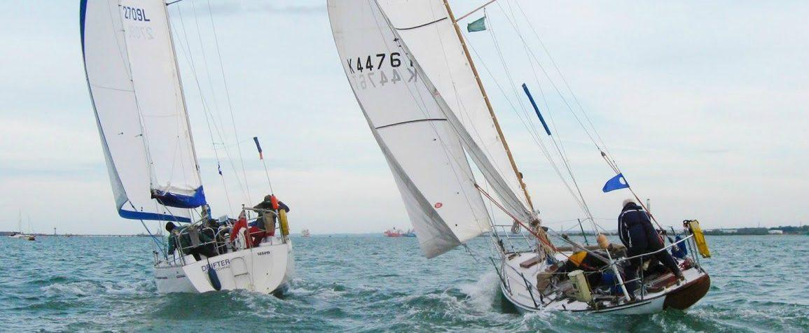 Sailing cruiser racing on Southampton Water