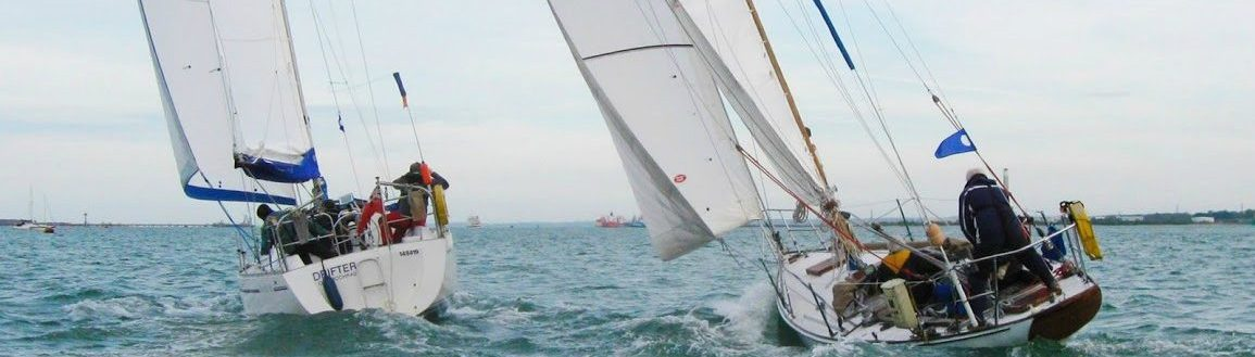 Sailing cruiser racing on Southampton Water