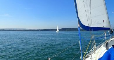 SWSA Round the Island race yacht in the western Solent