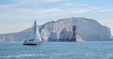 Round the Island race founding the needles