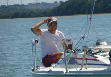 Single handed sailing race being enjoyed off Hythe