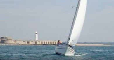 Passage sailing in Solent tidal water