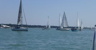 Weekend sailing in Southampton