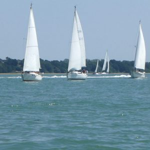Weekend racing in Southampton Water